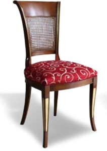 Cherry chair with cane